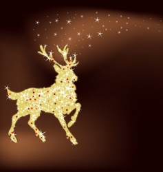 magic Christmas reindeer vector image vector image