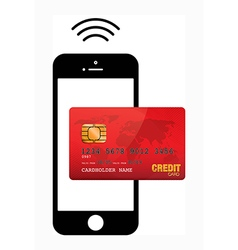 mobile payment vector image vector image