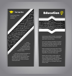 Modern education flyer with math background vector