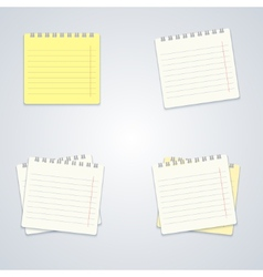 modern notebook set on gray background vector image