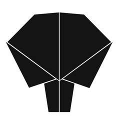 origami tree icon simple black style vector image