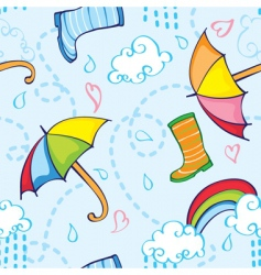 rainy pattern vector image