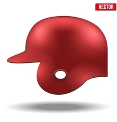Red baseball helmet vector
