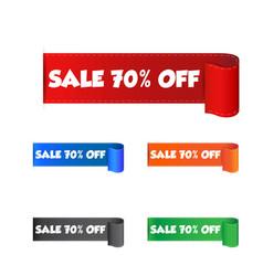 Sale 70 off sticker label on white background vector