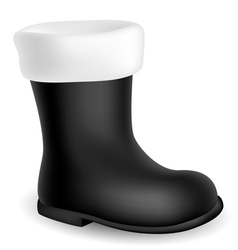 Santa black boot vector image