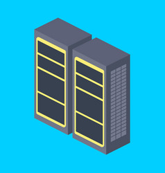 Server rack isometric vector