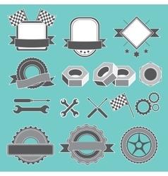 Set of emblem logotype for mechanic garage car vector image