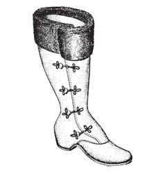 Single boot vintage engraving vector