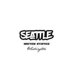 United states seattle washington city graffitti vector