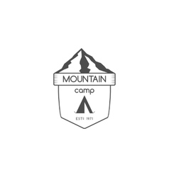Vintage mountain trekking climbing hiking camping vector image vector image