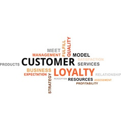 word cloud customer loyalty vector image vector image