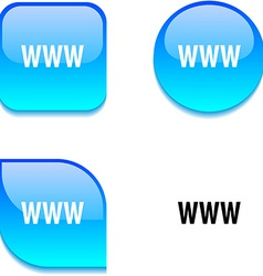 Www glossy button vector