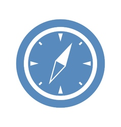 Compass icon in blue circle vector