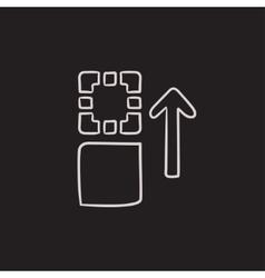 Movement of files sketch icon vector