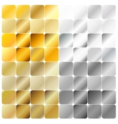 Golden and silver gradient pattern template vector