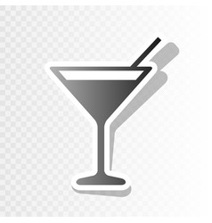 cocktail sign   new year vector image