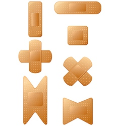 Set of band aids vector