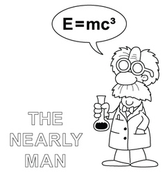 The nearly man vector