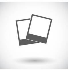 Photo single icon vector