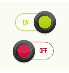 Toggle switch on and off vector