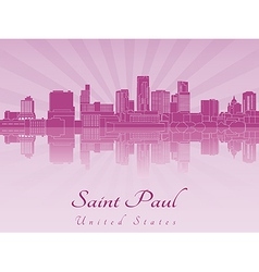 Saint paul skyline in purple radiant orchid vector