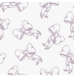 Seamless pattern with outline bows vector