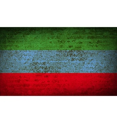 Flags dagestan with dirty paper texture vector