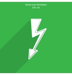 Lightning web icon vector