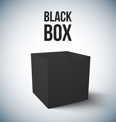 Realistic black box isolated vector
