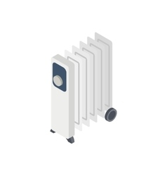 Electric oil heater icon isometric 3d style vector