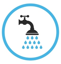 Shower tap flat icon vector