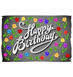 Birthday design over gray background tulip vector