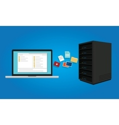 Ftp file transfer protocol copy document data from vector