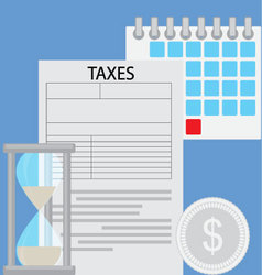 Business concept tax day vector image