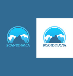 Badges with scandinavian mountains vector
