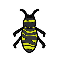 bee icon honey flying insect animal garden vector image