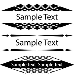 Black ornate frames for text vector