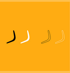 boomerang it is white icon vector image vector image
