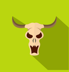 Buffalo skull icon flat style vector