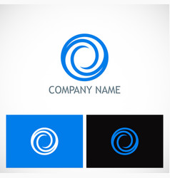 circle round abstract company logo vector image