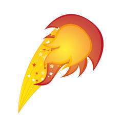 colorful silhouette with yellow olympic flame vector image
