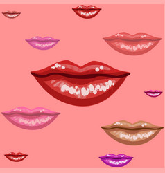 female lips texture vector image vector image