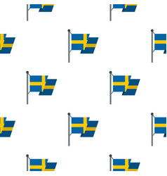 Flag of sweden pattern flat vector