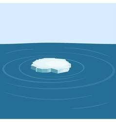 Floe in the sea yeps10 vector image