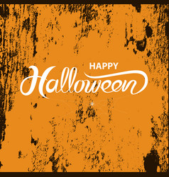 halloween banner calligraphy halloween vector image vector image