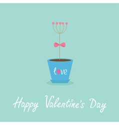 Happy Valentines Day Love Flat design Blue vector image vector image