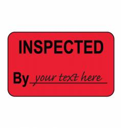 Inspected by label vector