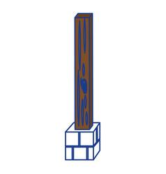Post estructure construction vector