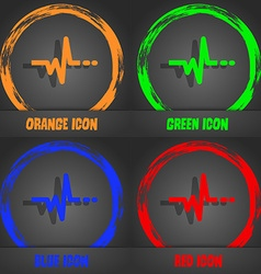pulse icon Fashionable modern style In the orange vector image