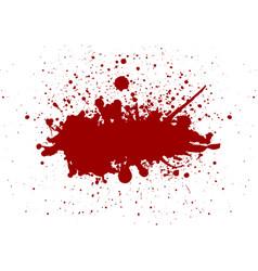 red color splatter background vector image vector image